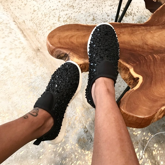 Zara Shoes - Bejeweled Sneakers